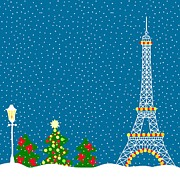 Paris Digital Art Prints - The Eiffel Tower In The Winter Print by Lana Sundman