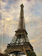Europe Digital Art Metal Prints - The Eiffel Tower Metal Print by Laurie Search