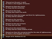 The Eight Beatitudes Of Jesus Print by Ricky Jarnagin