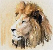 Lion Pastels - The Elder Statesman by Wu Wei