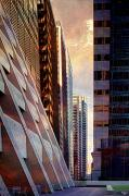 Skylines Digital Art Metal Prints - The Elevated Acre Metal Print by Chris Lord