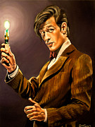 Television Paintings - The Eleventh Doctor by Emily Jones