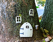 In A Tree Framed Prints - The Elf House Framed Print by Paul Ward