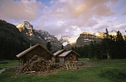Log Cabins Prints - The Elizabeth Parker Hut, A Log Cabin Print by Michael Melford