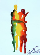 Family Love Painting Posters - The Embrace 19 Poster by Jorge Berlato