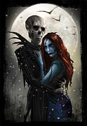 Nightmare Metal Prints - The Embrace Metal Print by Alex Ruiz