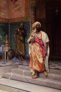 Orientalist Painting Prints - The Emir Print by Ludwig Deutsch