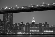 Fdr Drive Prints - The Empire State Building between the Brooklyn Bridge and the FDR drive Print by Andria Patino