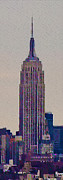 Nyc Digital Art Metal Prints - The Empire State Building Metal Print by Bill Cannon