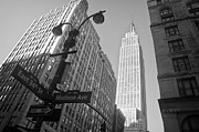 New York Buildings Prints - The Empire State Building in New York City Print by Ilker Goksen
