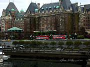 Seattle Greeting Cards Prints - The Empress Hotel Victoria British Columbia Canada Print by Glenna McRae