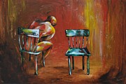 Loss Paintings - The Empty Chair by Dena Cardwell