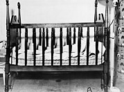 Crimes Prints - The Empty Crib Of Charles A. Lindbergh Print by Everett