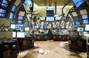 Securities Posters - The Empty Stock Exchange Floor Poster by Justin Guariglia