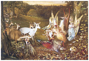 Fantasy Creatures Framed Prints - The Enchanted Forest Framed Print by John Anster Fitzgerald