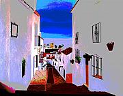 Andalucia Paintings - The Enchanted Village of Mijas by JoeRay Kelley