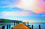 Pier Digital Art - The End of a Good day by Bill Cannon