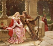 Flirting Paintings - The End of the Song by Edmund Blair Leighton