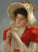 1898 Paintings - The Engagement Ring by John Shirley Fox