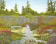 Linda Bennett Art - The English Garden by Linda Bennett
