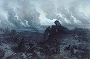 Sculpture Painting Prints - The Enigma Print by Gustave Dore