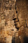 Enigmatic Prints - The Enigmatic Faces Of Bayon Temple Print by Alex Treadway