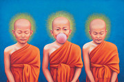 Tibetan Buddhism Paintings - The Enlightened One by Alessandra  Desole