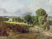 Hilly Landscape Metal Prints - The Entrance to Fen Lane by Constable John Metal Print by John Constable