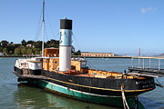 Hyde Street Pier Prints - The Eppleton Hall . A 1914 Steam Sidewheeler Tug Boat At The Hyde Street Pier in SF . 7D14123 Print by Wingsdomain Art and Photography