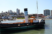 Hyde Street Pier Prints - The Eppleton Hall . A 1914 Steam Sidewheeler Tug Boat At The Hyde Street Pier in SF . 7D14166 Print by Wingsdomain Art and Photography