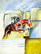 Horse Drawings Acrylic Prints - The Equestrian Acrylic Print by Tom Conway