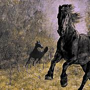 Horses Digital Art - The essence of freedom by Jeff Burgess