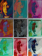 Miami Digital Art Posters - The Essence of Light v2- John Lennon Poster by Jimi Bush