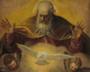 Heavenly Angels Paintings - The Eternal Father by Paolo Caliari Veronese