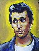 Tv Painting Posters - The Eternal sorrow of Arthur Fonzarelli Poster by Buffalo Bonker