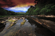 Roy Mcpeak Prints - The Evening River Print by Roy McPeak