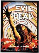 1980s Framed Prints - The Evil Dead, French Poster Art, 1981 Framed Print by Everett