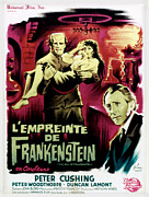 1960s Poster Art Posters - The Evil Of Frankenstein Aka Lempreinte Poster by Everett