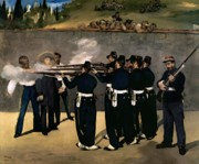 Execution Painting Posters - The Execution of the Emperor Maximilian Poster by Edouard Manet