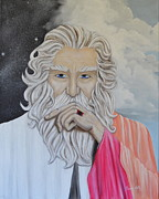 Wise Old Man Paintings - The Explorer by Gwen Albee