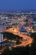 Express Way Photos - The Expressway curve at pattaya city during the night by Suwit Ritjaroon