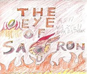 Red Eye Drawings - The Eye of Sauron by Jeannie Atwater Jordan Allen