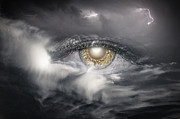 The Eye Of The Storm See's All Print by My Minds  Photographer
