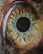 Red Reliefs Posters - The Eye Poster by Tatiana Ilieva