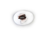 Eye Shadow Framed Prints - The Eye Framed Print by Yosi Cupano
