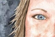 Eyes Paintings - The Eyes Have It - Jill by Sam Sidders