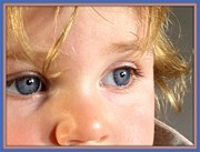 Blue Eyed Girl Prints - The eyes have it Print by Donald Carmichael