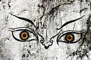 Buddhism Metal Prints - The eyes of Guru Rimpoche  Metal Print by Fabrizio Troiani