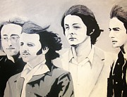 Ringo Starr Paintings - The Fab Four by Rock Rivard