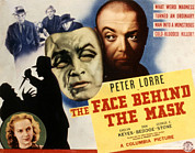 Lorre Posters - The Face Behind The Mask, Peter Lorre Poster by Everett